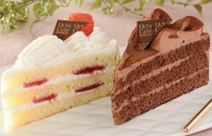 Uchi Cafe' SWEETS パーティーケーキ 苺&チョコ 2個位