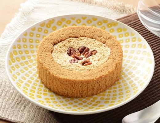 プレミアム 塩キャラメルとナッツのロールケーキ