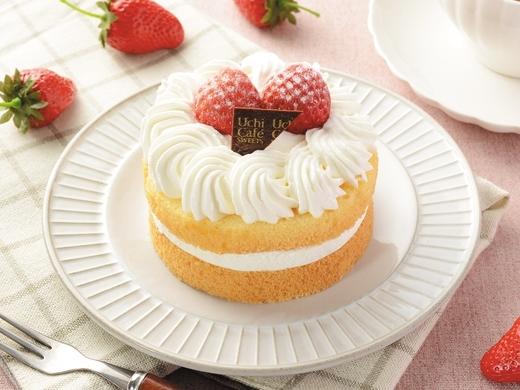 Uchi Cafe' SWEETS 苺のミニホールケーキ位