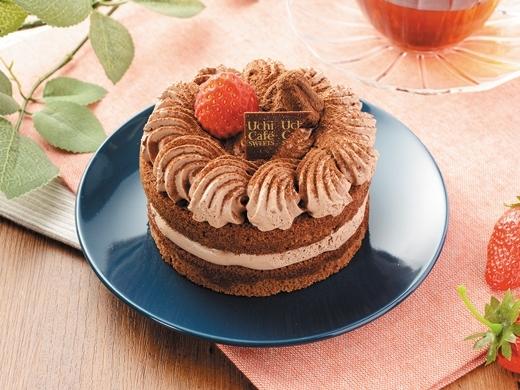 Uchi Cafe' SWEETS 苺のミニホールチョコケーキ位