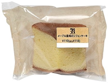 メープル風味のシフォンケーキ位