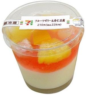 フルーツゼリー&杏仁豆腐位